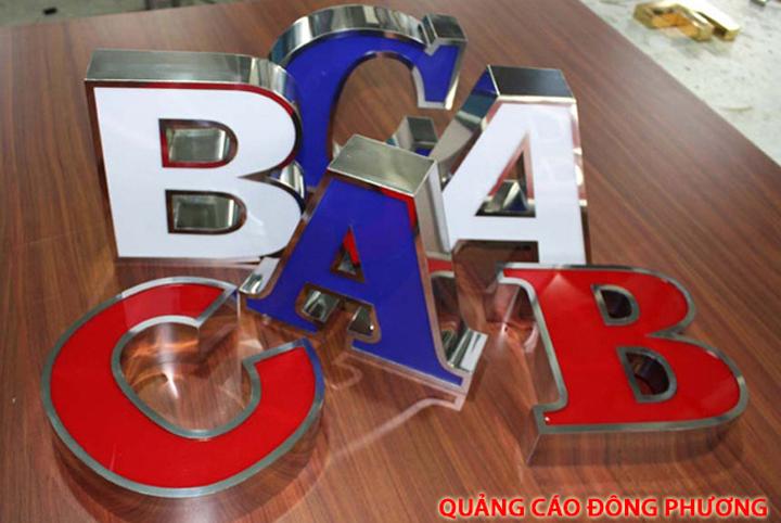 Cắt chữ inox, gia công chữ nổi inox, biển quảng cáo chữ inox giá rẻ Hà Nội 3
