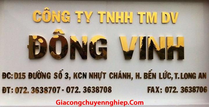 Cắt chữ inox, gia công chữ nổi inox, biển quảng cáo chữ inox giá rẻ Hà Nội 4