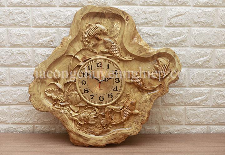 Đồng hồ gỗ treo tường đẹp hiện đại - Gia công chuyên nghiệp-10