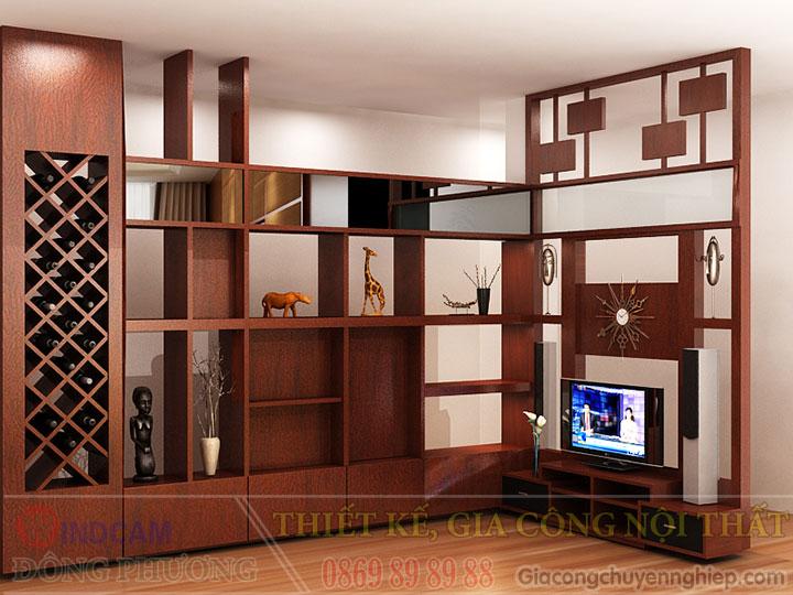 Gợi ý 20 mẫu tủ kệ gỗ trang trí nội thất đẹp - Nội thất Đông Phương-02