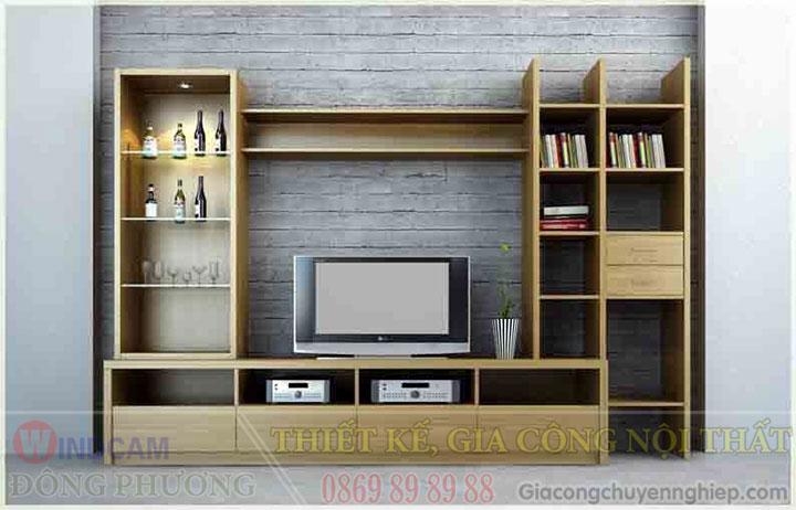 Gợi ý 20 mẫu tủ kệ gỗ trang trí nội thất đẹp - Nội thất Đông Phương-03