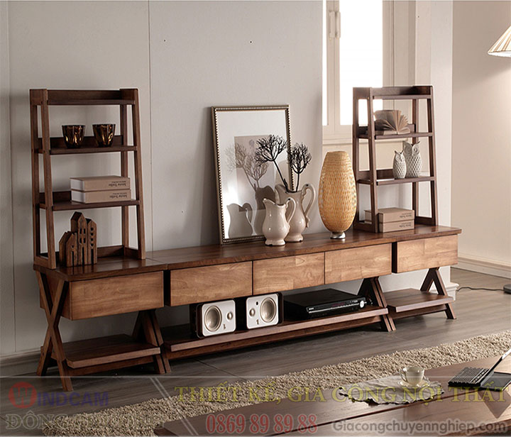 Gợi ý 20 mẫu tủ kệ gỗ trang trí nội thất đẹp - Nội thất Đông Phương-06