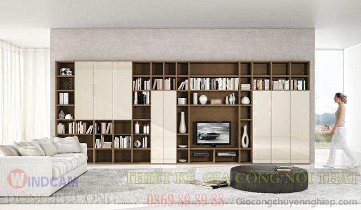 Gợi ý 20 mẫu tủ kệ gỗ trang trí nội thất đẹp - Nội thất Đông Phương-07