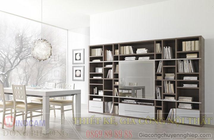 Gợi ý 20 mẫu tủ kệ gỗ trang trí nội thất đẹp - Nội thất Đông Phương-11