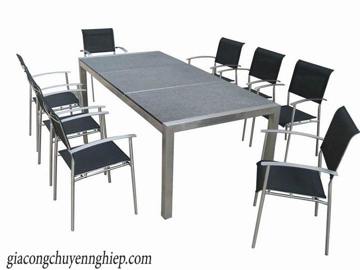 Thông dụng với bàn ăn inox tại quán ăn, nhà ăn tập thể 04