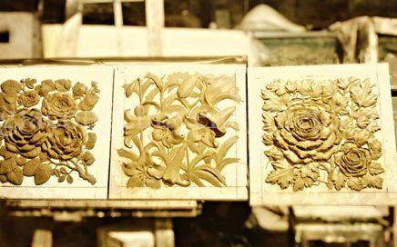 Top 10 bức tranh hoa văn chạm khắc trên gỗ đẹp nhất
