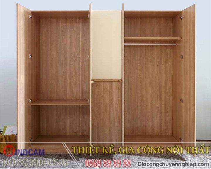 Xu hướng tủ quần áo gỗ công nghiệp - Gia công theo yêu cầu