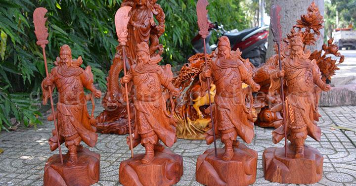 3 mẫu tượng gỗ Quan Công trong phong thủy đẹp nhất.-03