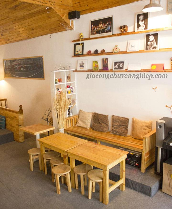 Đông Phương - Nhận gia công bàn, ghế gỗ cho các quán cafe 01