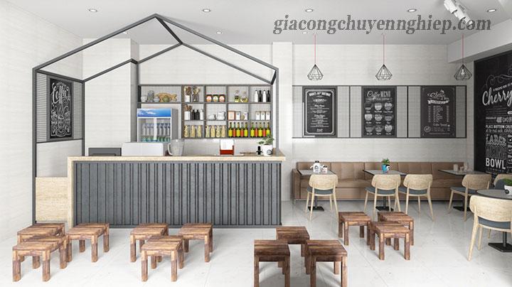 Đông Phương - Nhận gia công bàn, ghế gỗ cho các quán cafe 05