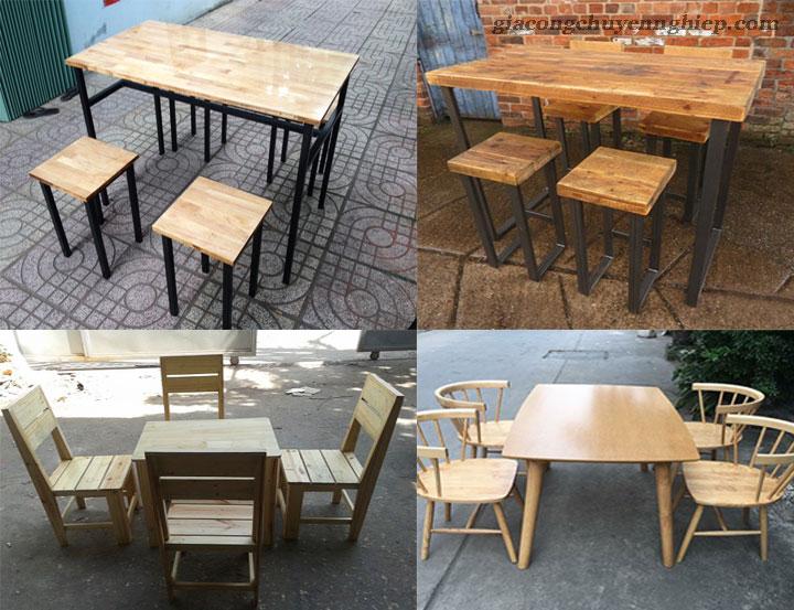 Bàn ghế gỗ cho quán cafe cóc - Giải pháp siêu tích kiệm không gian 03