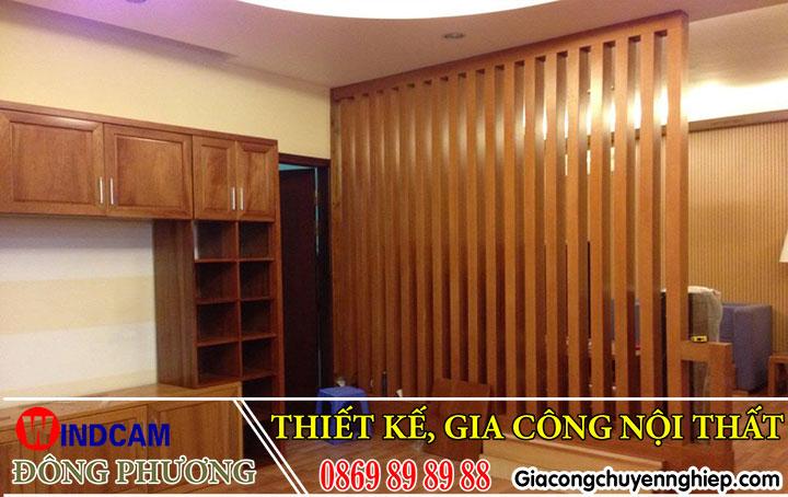 Mẫu lam gỗ trang trí giúp phòng khách, cầu thang thêm sang trọng, bắt mắt 4