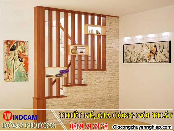 Mẫu lam gỗ trang trí giúp phòng khách, cầu thang thêm sang trọng, bắt mắt 6