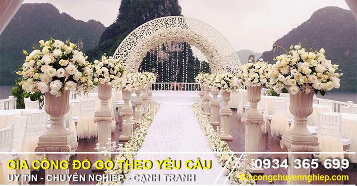 Top hoa văn cắt CNC làm cổng cưới, trang trí rạp cưới đẹp nhất.-00