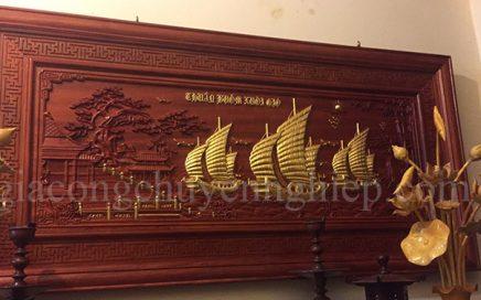 Tranh thuận buồm xuôi gió gỗ - Ý nghĩa và cách treo phong thủy-00