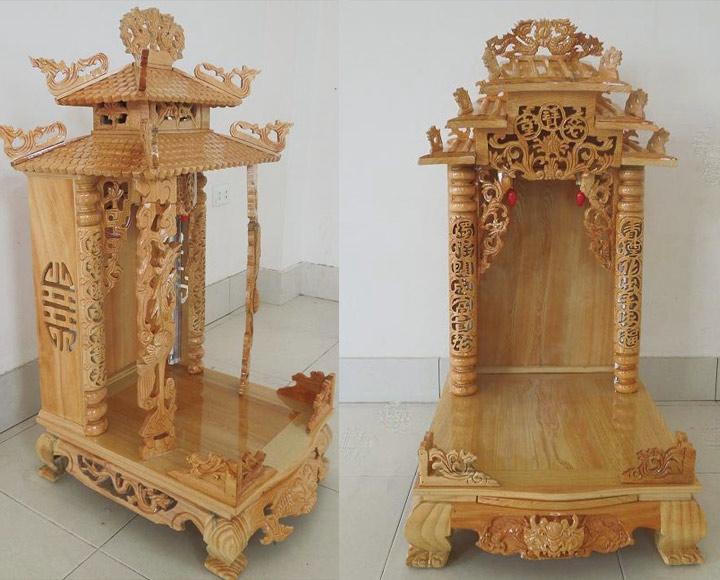 Gia công đục khắc gỗ 4D: Đục trụ rồng bàn thờ Thần Tài – Ông Địa đẹp tinh xảo-13