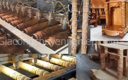 Gia công đục khắc gỗ 4D: Đục trụ rồng bàn thờ Thần Tài – Ông Địa đẹp tinh xảo-17