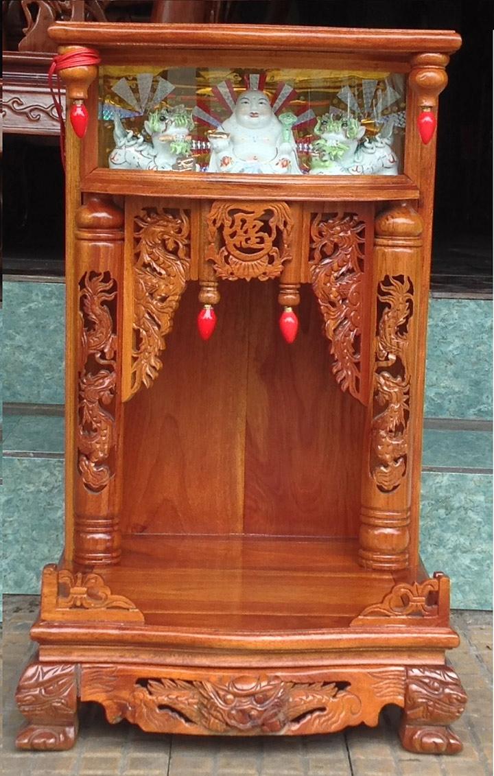 Gia công đục khắc gỗ 4D: Đục trụ rồng bàn thờ Thần Tài – Ông Địa đẹp tinh xảo-9