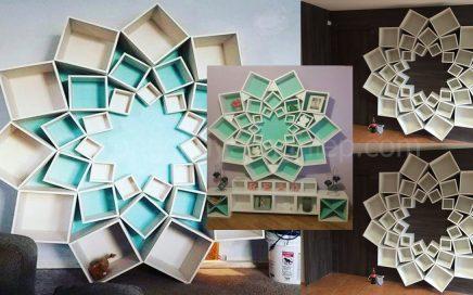Decor mẫu kệ gỗ trang trí treo tường phòng khách xu hướng HOT 2019.-0
