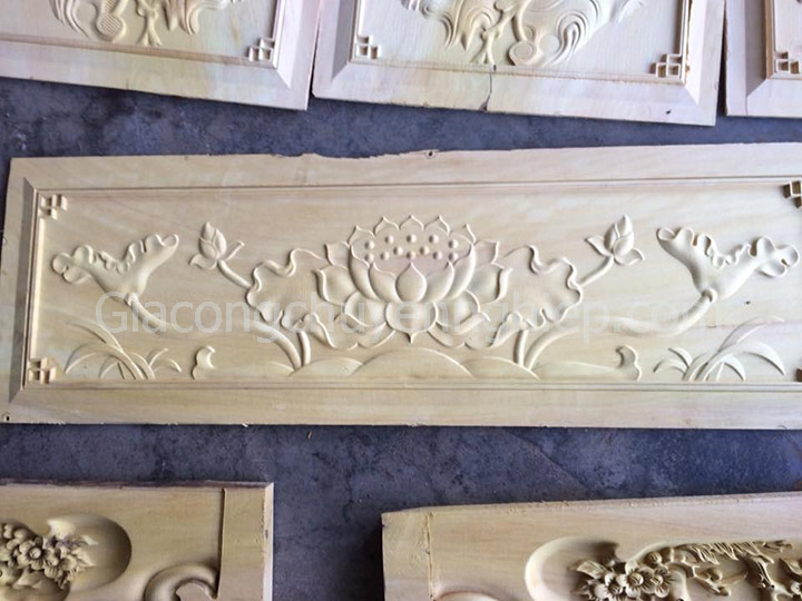 Nhận gia công cho các xưởng mộc cần chạm hoa lá tây khắc gỗ cnc.-10