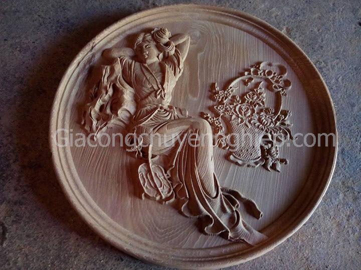 Nhận gia công cho các xưởng mộc cần chạm hoa lá tây khắc gỗ cnc.-3