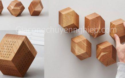 Nhận gia công lịch gỗ để bàn, phôi lịch gỗ 12 mặt đẹp giá rẻ tại TPHCM-0