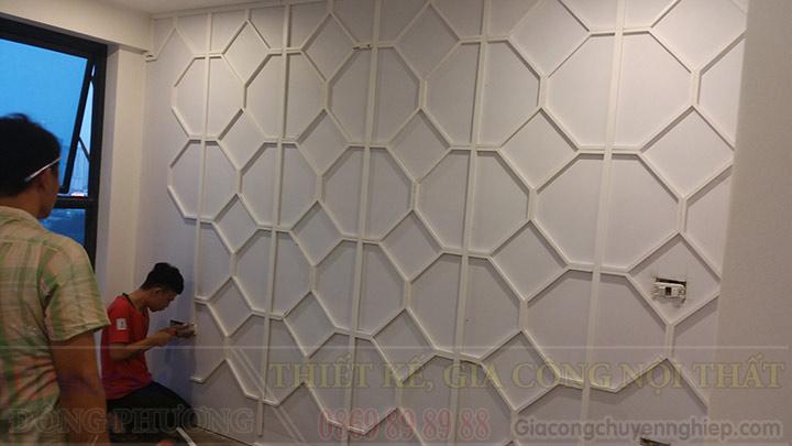 Thi công vách ngăn 03: Vách ngăn ốp tường trang trí-2