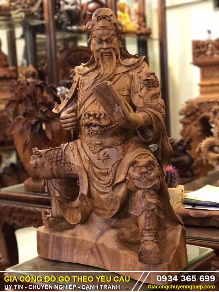 Tượng gỗ: Tượng gỗ Quan Công, Bật mí ý nghĩa và phong thủy.-3