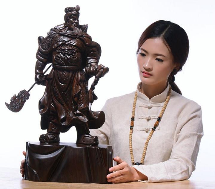 Tượng gỗ: Tượng gỗ Quan Công, Bật mí ý nghĩa và phong thủy.-6