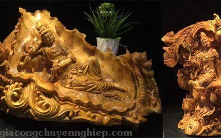 Tượng gỗ Phật Bà Quan Thế Âm món quà mang nhiều ý nghĩa tâm linh